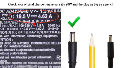 Original DELL Inspiron 1521 1526 8500 9300 600m 700M E1405 M5040 Charger