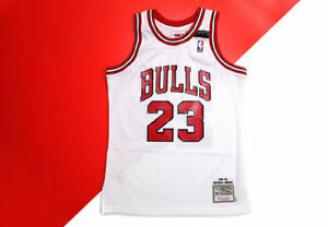 best service 7aa3e ac8d8 Details about 100% Authentic Michael Jordan Mitchell & Ness Bulls Shrug  Game Jersey 91-92 M 40