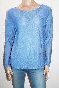 Love-Stitch-Brand-Blue-Long-Sleeve-Pullover-Jumper-Size-M-BNWT-SL84