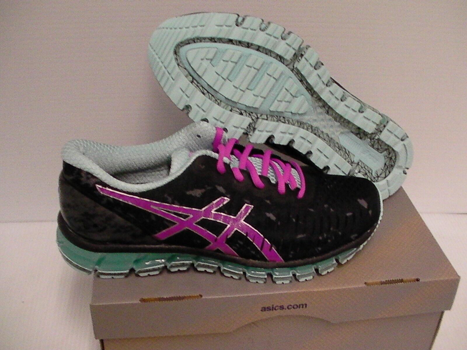 Women's Asics running shoes gel quantum 360 black pink glow size 11.5 us new