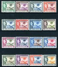 GAMBIA-1938-46 Set to 10/- (Top two values unmounted) Sg 150-161 MOUNTED MINT