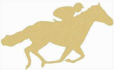 Running Horse Unfinished MDF Wood Cutout Variety Sizes USA Made Derby