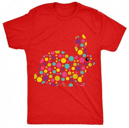 Novelty Spotty Bunny Unisex-Children T Shirt other colours available