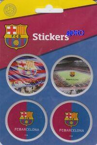 FC BARCELONA + 4 hochwertige Sticker + PVC Aufkleber + Offizielles Produkt FCB +