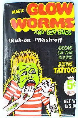 Fleer GLOW WORMS Sealed//Unopened Wax Pack 1971
