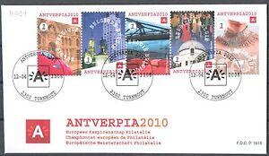 BELGIE-FDC-3767-3771-Antverpia-2010