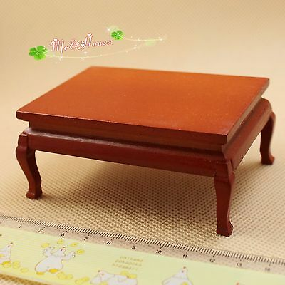 1:12  Dollhouse Miniature furniture wooden chinese tea oval end table