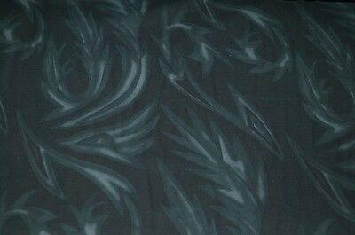 Baumwolle Stoff dunkelgrau groß gemustert Jeans-Struktur #03159