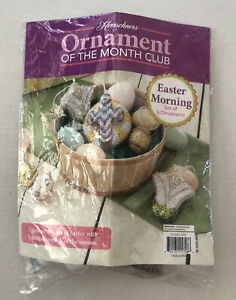 Herrschners Ornament Of The Month Kit Easter Morning Incomplete Open