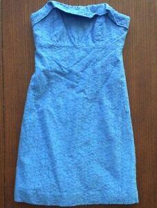 EUC-Lilly-Pulitzer-Light-Blue-Lace-Size-00-Dress