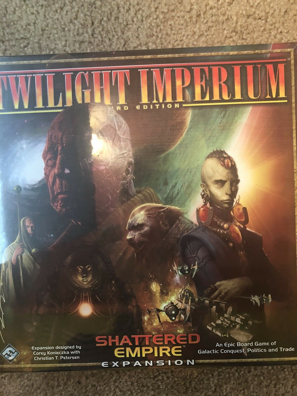 NEUF Twilight Imperium Galaxy Third Edition Shatterouge Empire Board Game Toys
