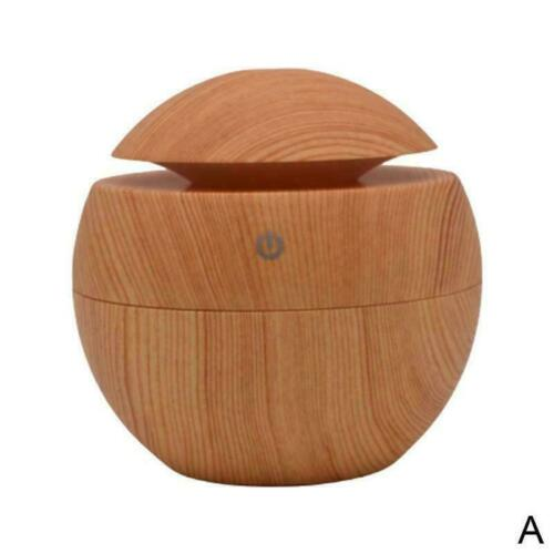 Aroma Essential Oil Diffuser Wood Grain Ultrasonic Home Humidifier L3R1