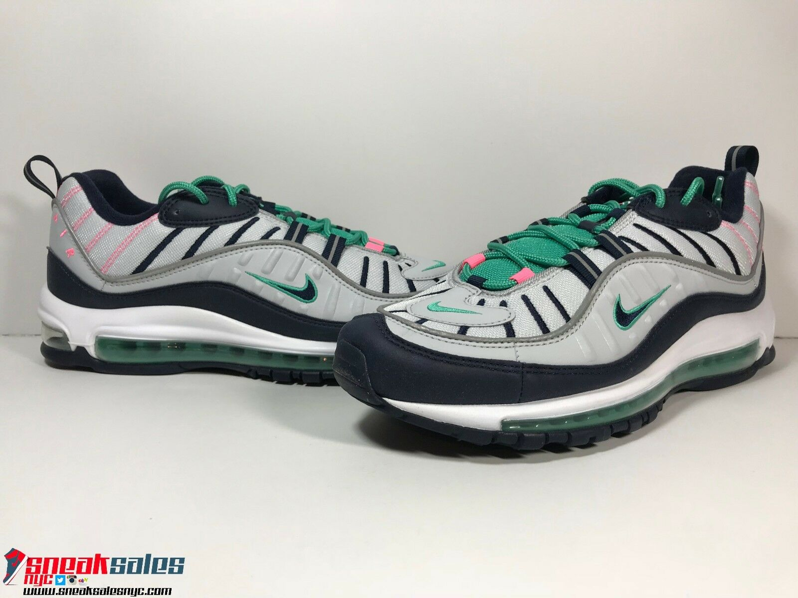 ab7f7adaef2a93 Nike Air Max 98 South Beach QS Pure Platinum Green 640744-005 Tidal 640744- 005 Green Size 10.5-14 713912