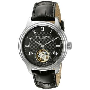 8112645541b Stuhrling Original Men s Perennial 42mm Leather Band Automatic Watch ...