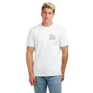 Ocean-Pacific-Fundido-con-el-logotipo-de-nucleo-con-licencia-oficial-para-Hombre-T-Shirt-Blanco-S