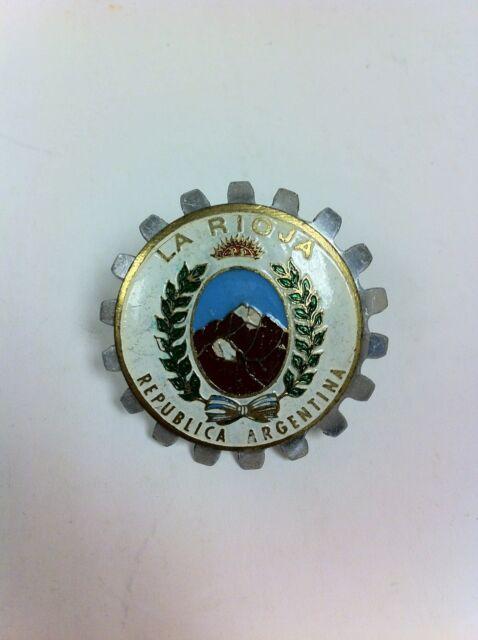 Vintage La Rioja Argentina Automobile Motorcycle Grille Badge - #609E