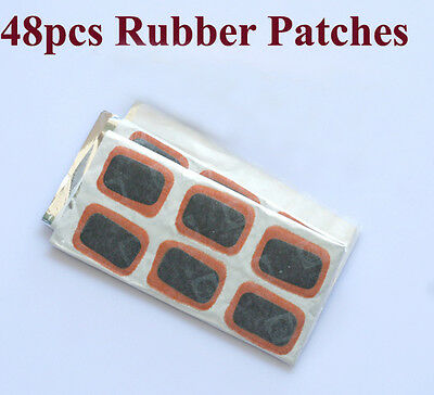 Bike Bicycle Tire Tyre Tube 48 Rubber Puncture Patches Repair Kit NEW