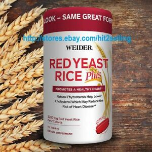 Weider-Red-Yeast-Rice-Plus-240-Tab-Exp-Date-09-2021-Lower-Cholesterol-1200mg