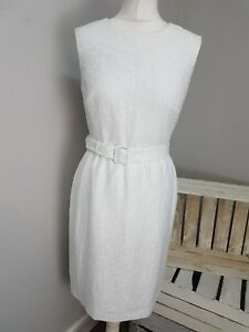 68ee20ddd1c2 Image is loading Hobbs-Sleeveless-Textured-Dress-in-White-AS27-39