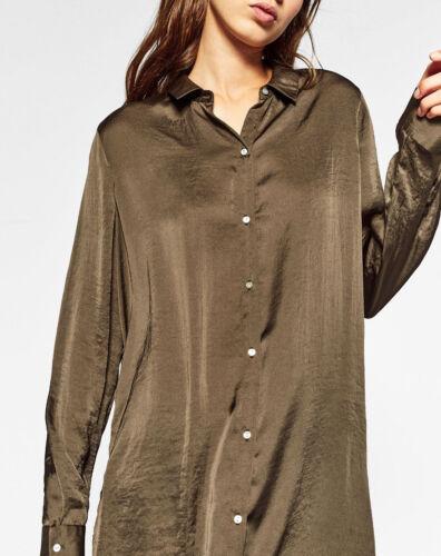 S Embroidered Stickerei Hemd Shirt Bluse Long M Kimono Zara Jacke Blouse Jacket wOvqxXtS1T