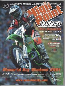 Vintage High Point Nationals 2001 AMA Motocross Program Ricky Carmichael