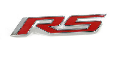 1X Metal RS Sticker fender Trunk Emblem Badge Replacement For Chevy Camaro Cruze Red