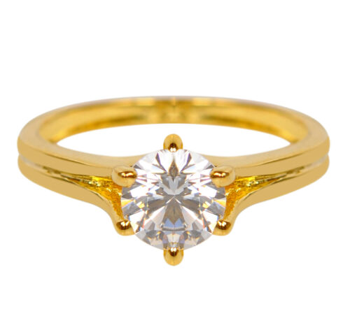 14KT Yellow Gold Awesome Round Shape 2.00Ct Solitaire Women/'s Engagement Ring