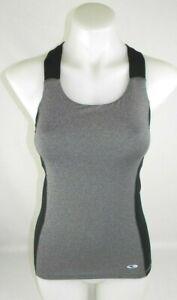 Champion-DuoDry-Gray-amp-Black-Tank-Top-Shirt-W-Built-In-Bra-Womens-Sz-XS-EUC-G1