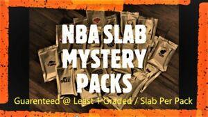 NBA SLAB MYSTERY PACK - Guaranteed Graded Card Per Pack + Raw - Ltd. 30 Packs