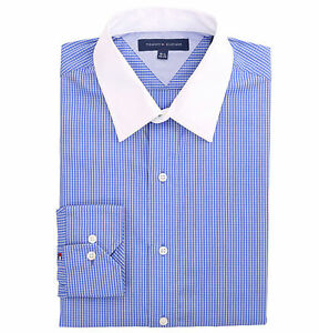 Tommy Hilfiger Men/'s long Sleeve Button-Down Dress Shirt $0 Free Ship