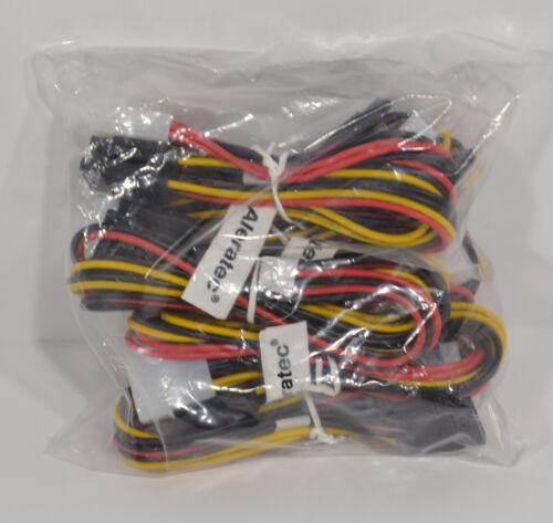 Molex LP4 to Sata Power Y Splitter Pack of 6