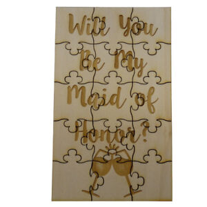 Will-You-Be-My-Maid-of-Honor-Jigsaw-Puzzle-15-Pieces-Wood-Wine-Glasses-Wedding