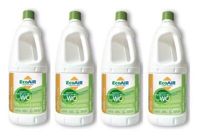 Fornitura Disgregante Sanity 2 Litri Eucalipto Wc Aque Nere Camper Aqua Kem * 4 Bottiglie