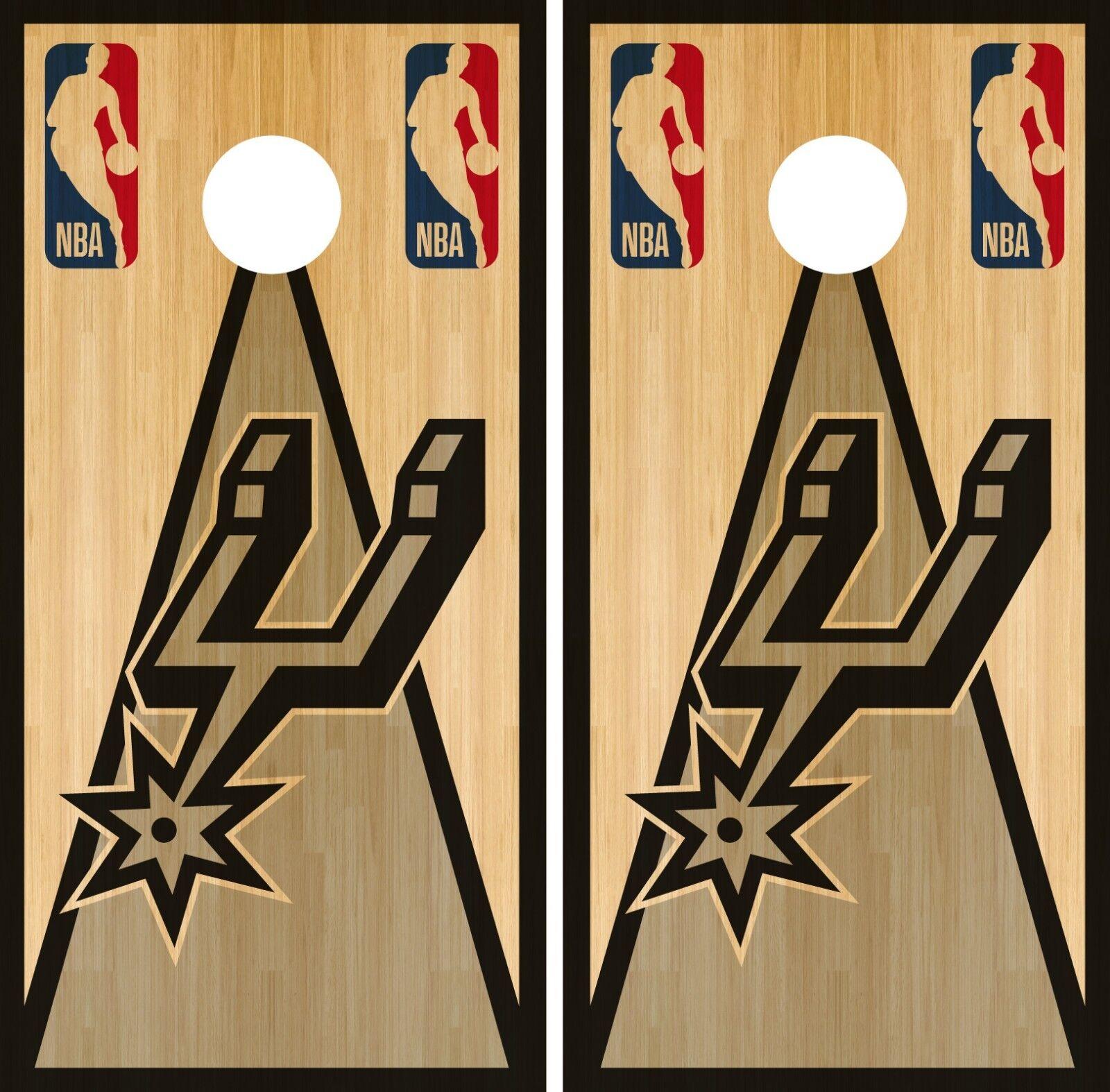 San Antonio Spurs  Cornhole Wrap NBA Game Skin Board Vinyl Decal Vintage CO707  no hesitation!buy now!