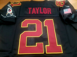 Details about NEW! Black Redskins Throwback #21 Sean Taylor w/Dual Patch stitched Jersey Men