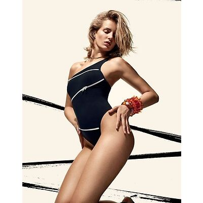 AGENT PROVOCATEUR RARE ZOEY ZIP BLACK SWIMSUIT SIZE SMALL / AP2 / 8-10 BNWT