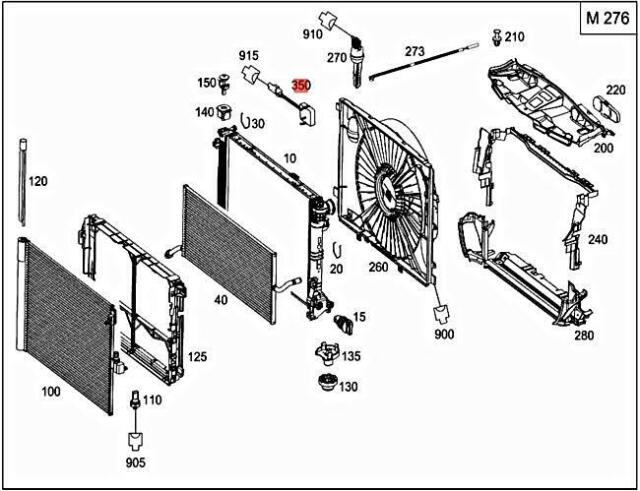 MERCEDES-BENZ GLK-CLASS X204 Temperature Sensor A2219055600 New Genuine