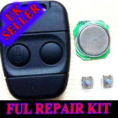 2 x GENUINE ROVER 200 400 MGZR ZS TF 45 25 2 BUTTON REMOTE KEY FOB CASES
