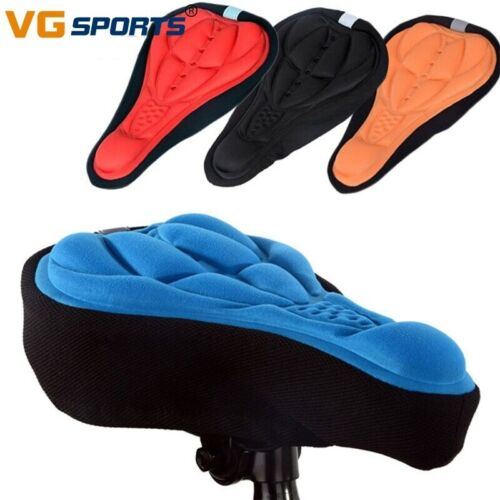 Details about  /Bike Seat 3D Soft Thick Bicycle Cushion Pad Cycling Bicycle Sponge Mat Seat Sadd