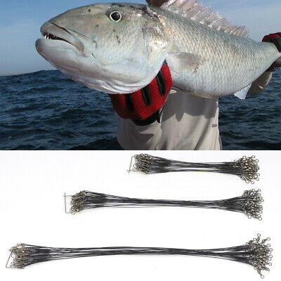 15//23//30cm 26 lb Lure Coated trace poisson Wire SPINNER PIKE Sea Fishing Pack de 72 environ 11.79 kg