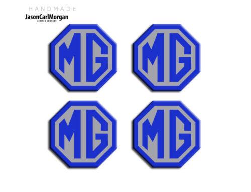 Mg Zt Rueda Centro Tapas Insignias Tapacubos Insignia 01-05 Año Azul Y Plata 45 mm