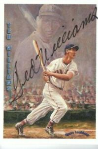 TED-WILLIAMS-1993-Locklear-Collection-Auto-Signature-No-LC9-406-RARE-Red-Sox