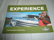 Land Rover Experience Corporate Events & Team Building brochure c1995