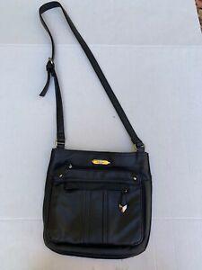 Black Leather Crossbody Bag Purse