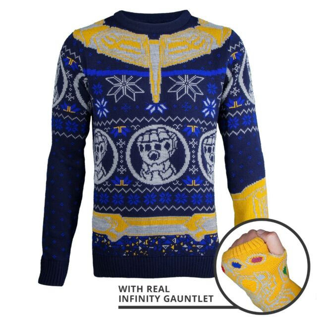 c46b7bb9b31 Marvel Avengers Thanos Knitted Christmas Jumper / Sweater