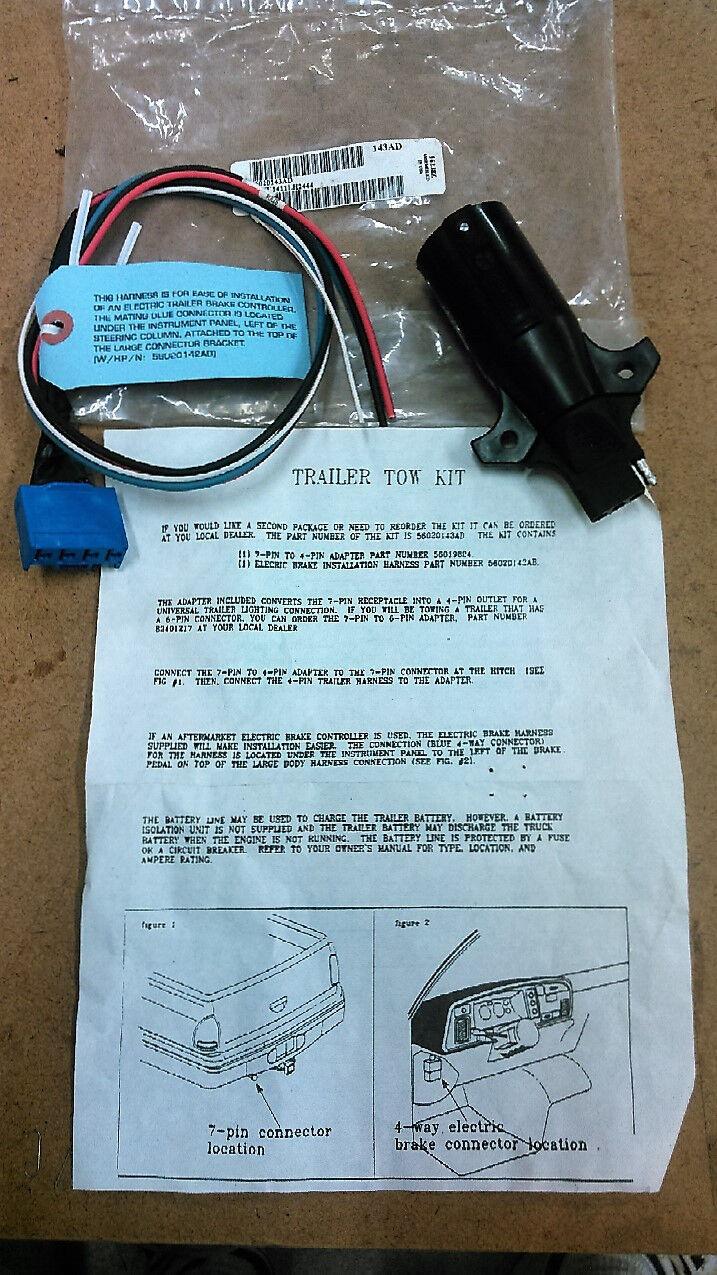 Dodge Cummins Trailer Brake Controller Tow Kit 56020143AD   eBay