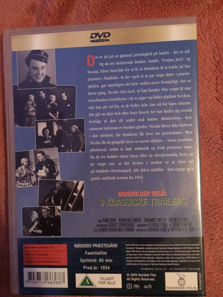 Nødebo præstegaard, DVD, familiefilm