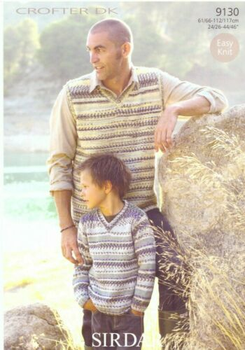 9130 Sirdar en doble Knitting-tanque y Sweater Patrón
