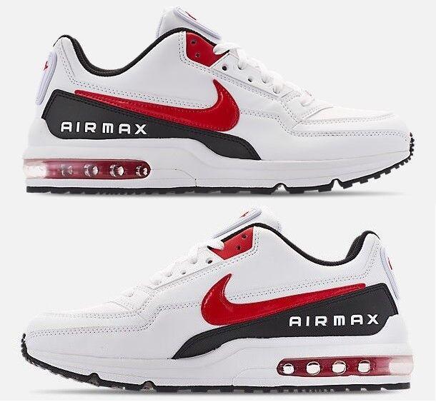 buy popular 84bf7 af243 Nike Air Air Air Max Ltd 3 Homme Blanc - University Rouge - Cuir Noir de  Course 26b3f1
