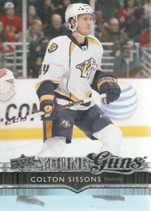 2014-15-Upper-Deck-Hockey-231-Colton-Sissons-YG-RC-Nashville-Predators